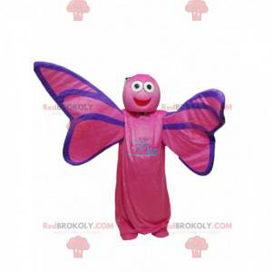 Mascotte farfalla fucsia. Costume da farfalla - Redbrokoly.com