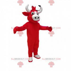 Maskot červená kráva. Kostým červené krávy - Redbrokoly.com