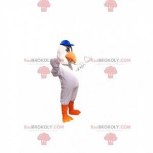 Maskot bílý albatros. Kostým bílého albatrosa - Redbrokoly.com