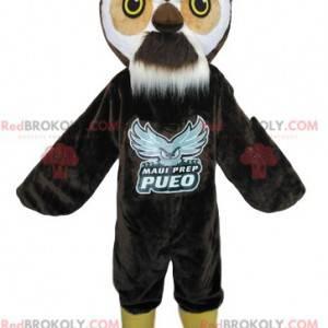 Brown owl mascot. Owls costume - Redbrokoly.com