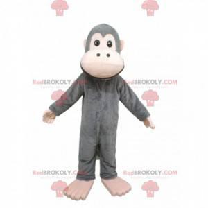 Mascotte scimmia grigia. Costume da scimmia grigia -
