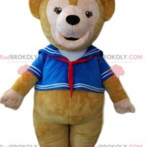 Medvěd hnědý maskot v námořnickém oblečení - Redbrokoly.com