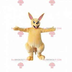 Lys beige kænguru-maskot. Kænguru-kostume - Redbrokoly.com