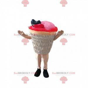 Růžový maskot cup-cake. Košíček kostým - Redbrokoly.com
