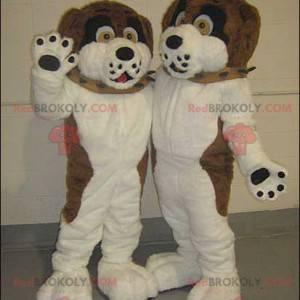 2 maskoti hnědých, černých a bílých psů - Redbrokoly.com