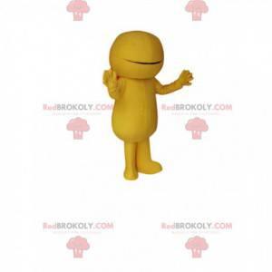 Maskot žlutý sněhulák. Kostým žlutý sněhulák - Redbrokoly.com