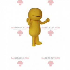 Yellow snowman mascot. Yellow snowman costume - Redbrokoly.com