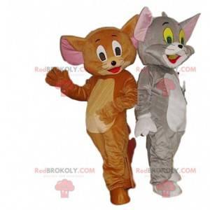 Duo di mascotte Tom & Jerry. Costume di Tom e Jerry -