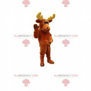 Mascota de caribú marrón. Traje de caribú - Redbrokoly.com