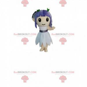 Mascot girl with purple hair. - Redbrokoly.com