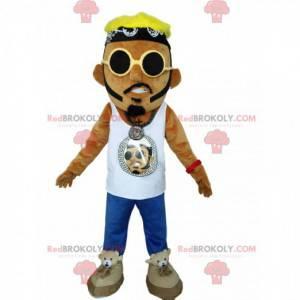 Urban Style Mann Maskottchen mit Sonnenbrille - Redbrokoly.com