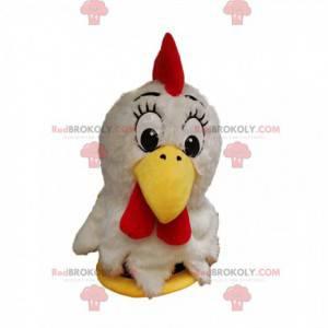 Hvit kyllingmaskott med en fin gul nebb. - Redbrokoly.com
