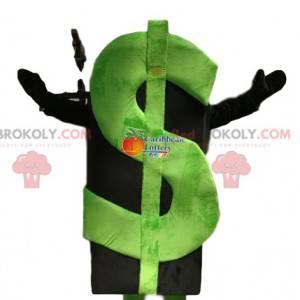 Zelený dolar maskot. Zelený dolarový oblek - Redbrokoly.com
