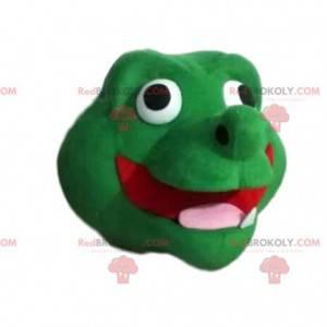 Cabeça de mascote dragão verde super divertida - Redbrokoly.com