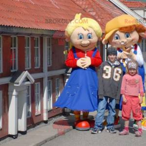 2 germánská postava maskuje dívku a chlapce - Redbrokoly.com