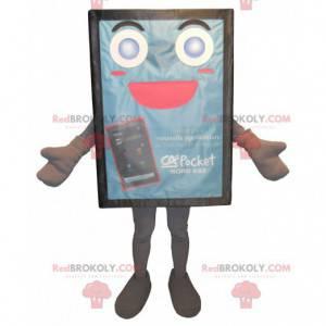 Niebieska i urocza maskotka reklamowa billboard - Redbrokoly.com