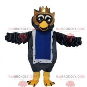 Maskot sova se zlatou korunou. Kostým sova. - Redbrokoly.com