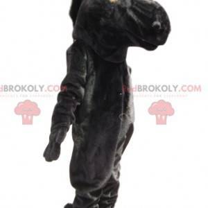 Schwarzes Pferd Maskottchen. Schwarzes Pferdekostüm -