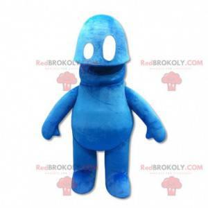 Cute and original blue snowman mascot - Redbrokoly.com