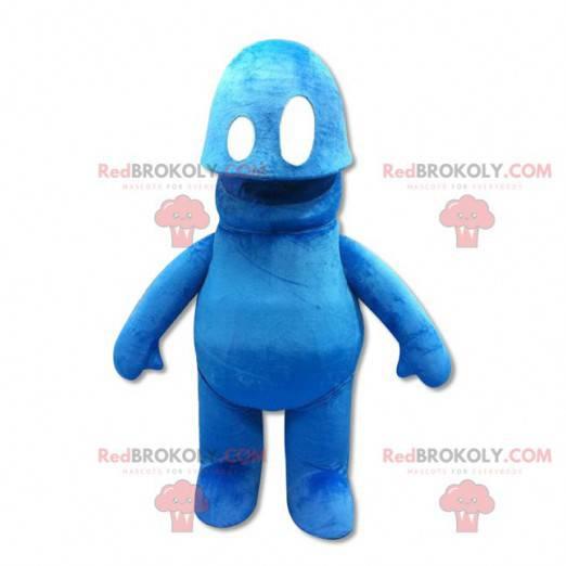 Śliczna i oryginalna niebieska maskotka bałwana - Redbrokoly.com