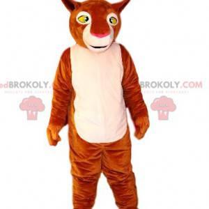 Brun og hvit løvinne maskot. Lioness kostyme - Redbrokoly.com