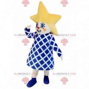 Little girl mascot with a star-shaped head. - Redbrokoly.com