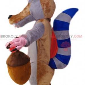 Maskottchen von Scrat, dem berühmten Eichhörnchen der Eiszeit.