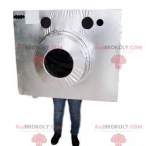 Silver photographic camera mascot - Redbrokoly.com