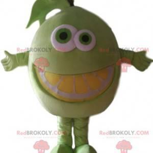 Super divertido mascote de limão. Fantasia de limão -