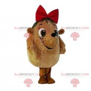 Sehr süßes Igelmaskottchen mit roter Fliege - Redbrokoly.com