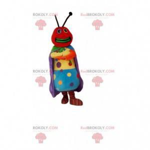 Mascot hormiga colorida, con puntos multicolores -
