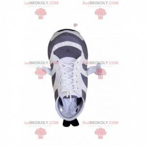 Maskot bílé a šedé basketbal. Basketbalový oblek -