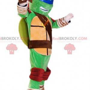 Mascote Leonardo, Tartarugas Ninja. Fantasia de leonardo -