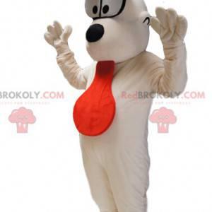 Maskot Odie, bílý pes v Garfieldu. - Redbrokoly.com
