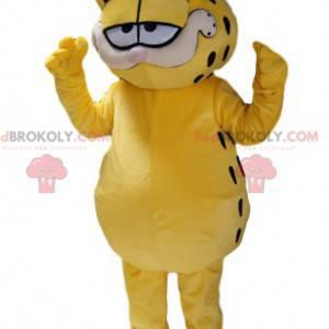 Mascote Garfield, o gato ganancioso do desenho animado -