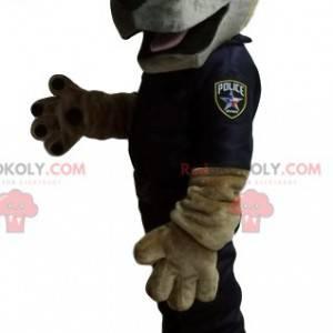 German Shepherd maskot kledd som en politimann. - Redbrokoly.com