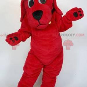Clifford the big red dog cartoon mascot - Redbrokoly.com