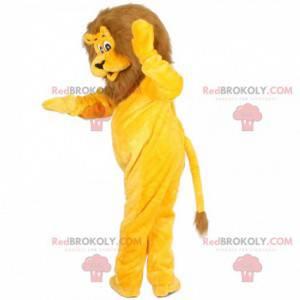 Žlutý a hnědý maskot lva - Redbrokoly.com