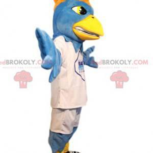 Maskottchen hellblauer Adler in weißer Sportbekleidung! -
