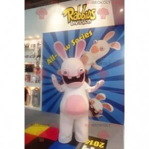 Kaninchen Maskottchen weiß und rosa - Redbrokoly.com