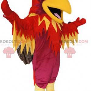 Mascot fuchsia phoenix, red and yellow - Redbrokoly.com