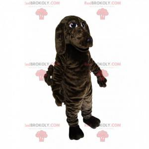 Hnědý a černý pes maskot. Hnědý kostým pro psa - Redbrokoly.com