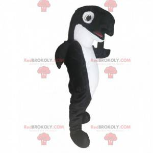 Svart og hvit spekkhogger maskot. Orca-kostyme - Redbrokoly.com