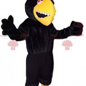 Very aggressive eagle mascot with a yellow beak. Eagle costume