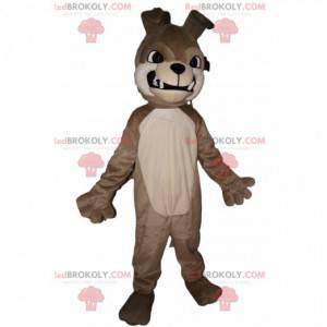 Maskottchen aggressiver grauer Bulldogge. Bulldogge Kostüm -