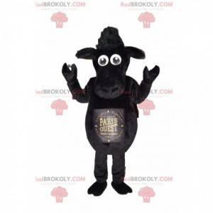 Schwarzes Schaf Maskottchen. Schwarzes Schafskostüm -
