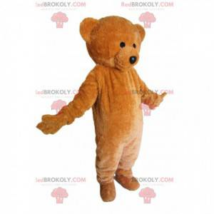 Wirklich süßes Braunbärenmaskottchen. Teddybär Kostüm -