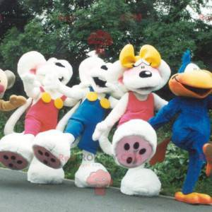 5 Diddl mascots with his girlfriend and his friends -