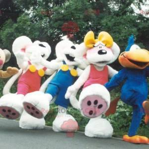 5 Diddl maskoti se svou přítelkyní a jeho přáteli -