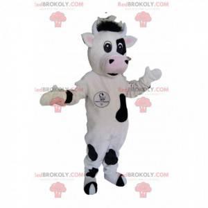 Černá a bílá kráva maskot. Kráva kostým - Redbrokoly.com